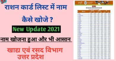 UP Ration Card List Online 2021